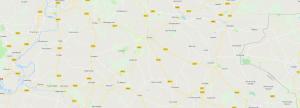 kaart van regio Achterhoek