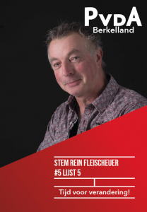 Verkiezingsposter van Rein Fleischeuer
